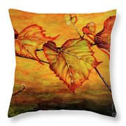Grape Vine Throw Pillow