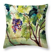Grape Vines At Otter Creek Throw Pillow