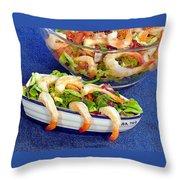 Grapefruit And Shrimp Salad Throw Pillow