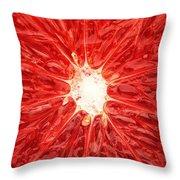 Grapefruit Close-up Throw Pillow