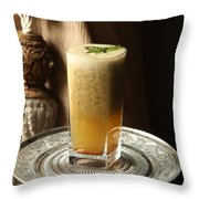 Grapefruit Lemon And Mint Wake- Up Hydration Throw Pillow