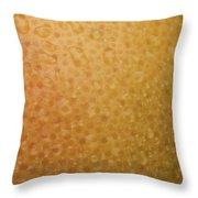 Grapefruit Skin Throw Pillow