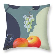 Grapes And Apples Throw Pillow