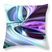 Grapes And Cream Abstract Throw Pillow