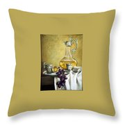 Grapes And Cristals Throw Pillow