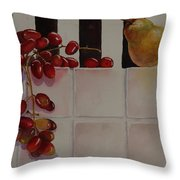 Grapes And Pear Throw Pillow
