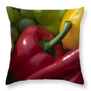 Grapes And Pepper Throw Pillow
