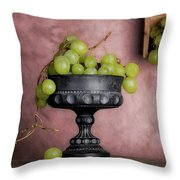 Grapes Centerpiece Throw Pillow