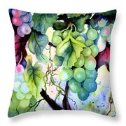 Grapes II Throw Pillow