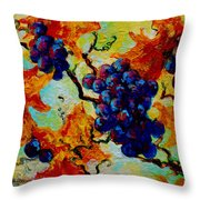 Grapes Mini Throw Pillow