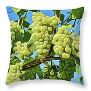 Grapes Not Wrath Throw Pillow