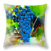 Grapes Of The Vine Throw Pillow