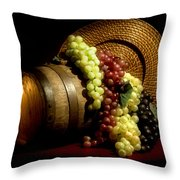 Grapes Of Wine Throw Pillow by Tom Mc Nemar
