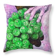 Grapes On Butt Throw Pillow