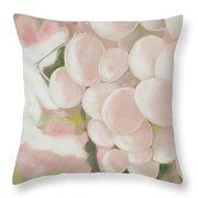 Grapes Powder Pink Throw Pillow