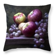 Grapes With Apples Throw Pillow