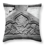 Grapevine Carving Throw Pillow