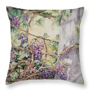 Grapevine Laurel Lakevineyard Throw Pillow