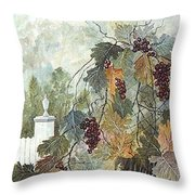 Grapevine Topiary Throw Pillow by Ben Kiger