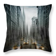 Graphic Art Nyc 5th Avenue Traffic V Throw Pillow
