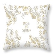 Graphic Art Rise And Shine - Gold And Marble Throw Pillow