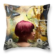 Graphic Arts Throw Pillow