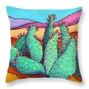 Graphic Cactus Throw Pillow
