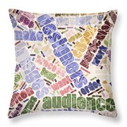 Graphic Design Word Cloud Throw Pillow