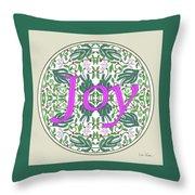 Graphic Designs Button Joy Throw Pillow