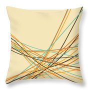 Graphic Line Pattern Throw Pillow
