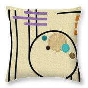 Graphics In The Sand Throw Pillow