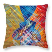 Graphics - Voiceprint, Read My Lips Throw Pillow