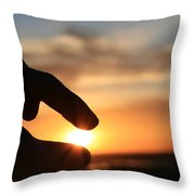 Grasping The Moment Throw Pillow