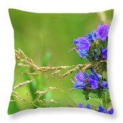 Grass And Flower  Throw Pillow