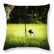 Grass Coverage Throw Pillow