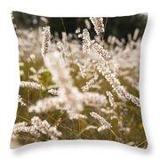 Grass Field Throw Pillow