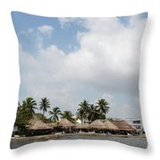 Grass Huts Colombia II Throw Pillow