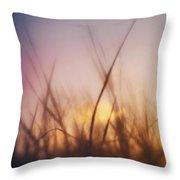 Grass In A Windy Field Throw Pillow