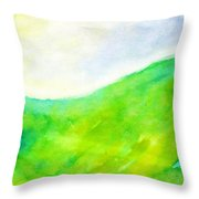 Grass In The Nature Throw Pillow