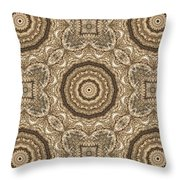 Grass Seed Crocheted Doily Throw Pillow