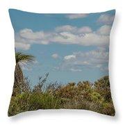 Grass Tree Landscape Throw Pillow