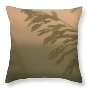 Grasses And Mist Throw Pillow