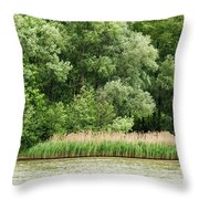 Grasses And Trees Throw Pillow
