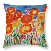 Grasses Can't Hide Throw Pillow