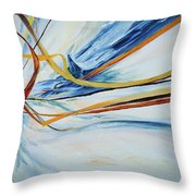 Grasses In The Snow Throw Pillow