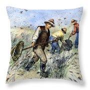 Grasshopper Plague, 1888 Throw Pillow