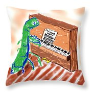 Grasshoppers Don't Play Piano Throw Pillow
