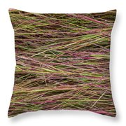 Grassy Abstract Throw Pillow