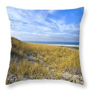 Grassy Dunes Throw Pillow