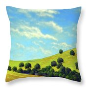 Grassy Hills At Meadow Creek Throw Pillow